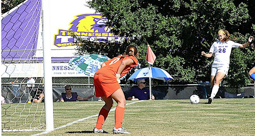 Golden Eagle soccer matches EKU throughout, but gets the short end of a one-nil game
