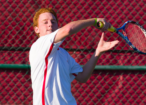 Erik Dinardo and the Red Devils posted a 6-3 win at Muhlenberg on Wednesday afternoon<BR>