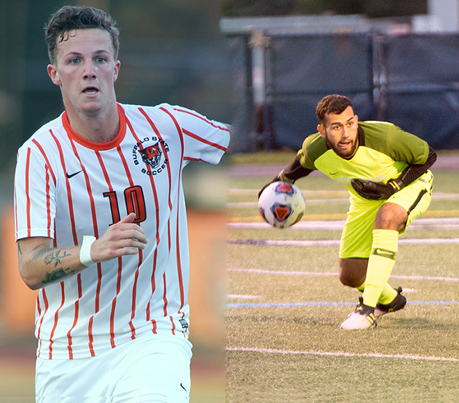 Pencic, Terra named SUNYAC Men's Soccer Athletes of the Week