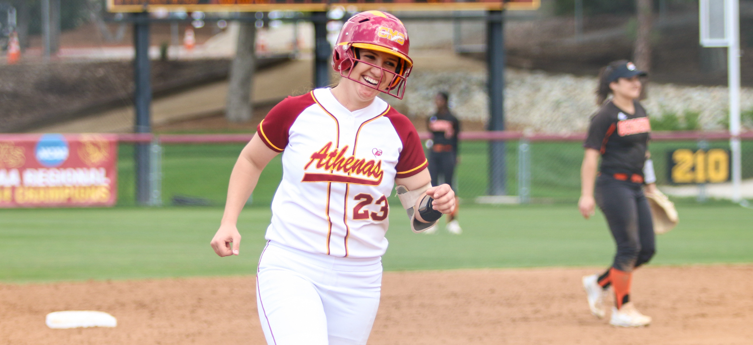 Maddie Valdez (CMC) went deep twice and had the walk-off base hit in the Game One win. (photo credit: Matthew Fenton)