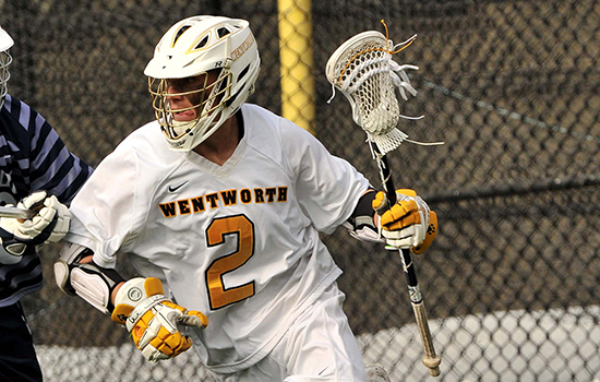 Paradis' 10 Points Powers Men's Lacrosse to First Victory
