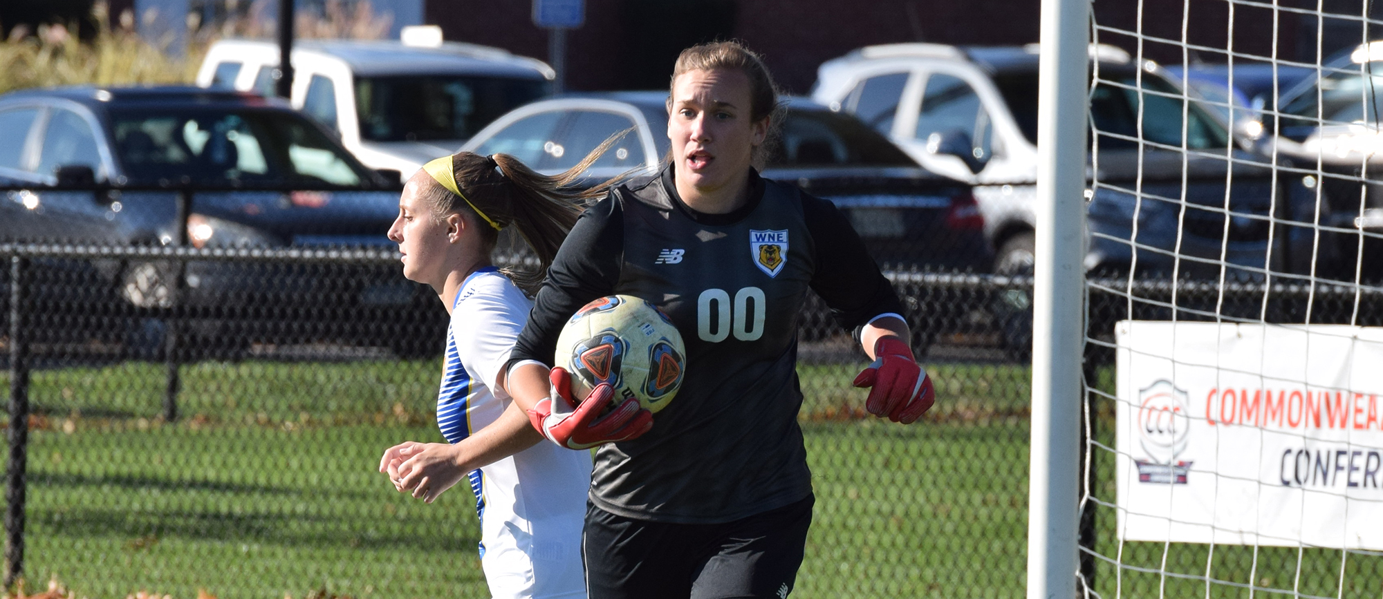Alex Lemekha made nine saves in her final collegiate contest as Western New England fell to Endicott 1-0 in the CCC Tournament quarterfinals on Saturday. (Photo by Rachael Margossian)