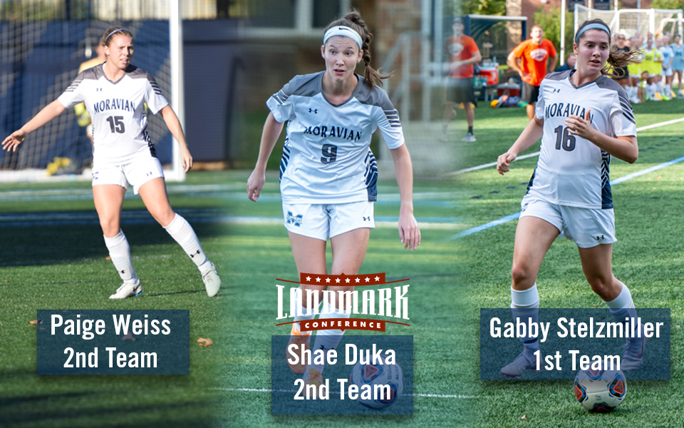 Paige Weiss, Shae Duka and Gabby Stelzmiller named to 2018 Landmark All-Conference Women's Soccer Teams