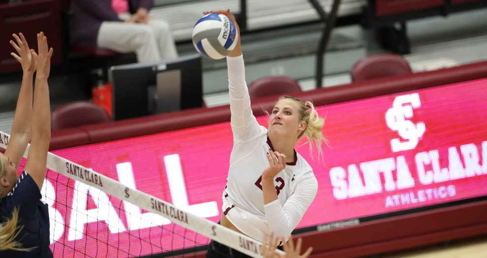 Volleyball Knocked Off by No. 9 BYU in WCC Opener