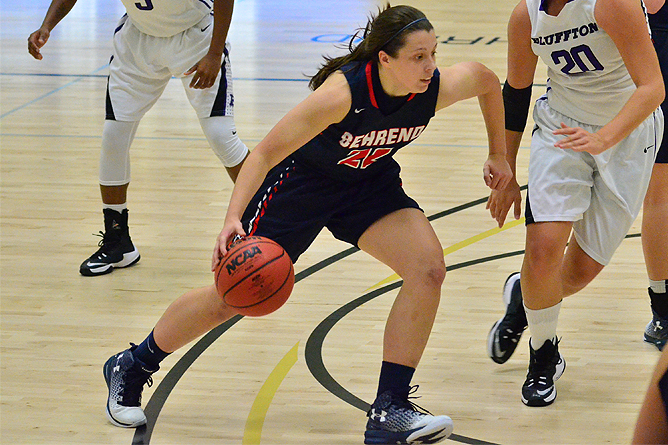 Women's Basketball Downs Franciscan in AMCC Action