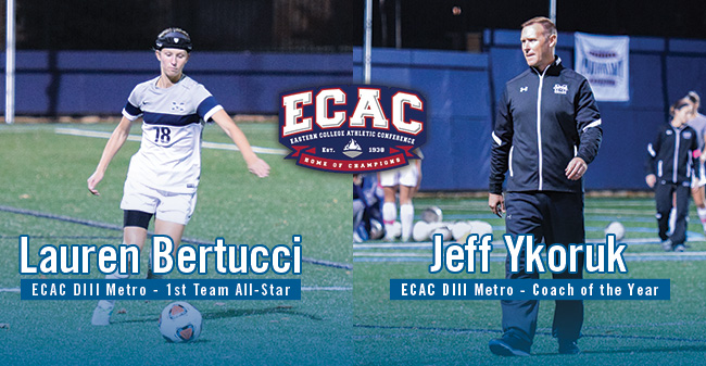Ykoruk Selected as ECAC DIII Metro Coach of the Year; Bertucci Named to All-Star 1st Team