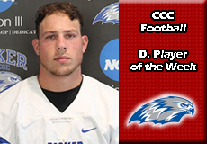 Michael Bianco-Becker, CCC Football: Defensive Player of the Week