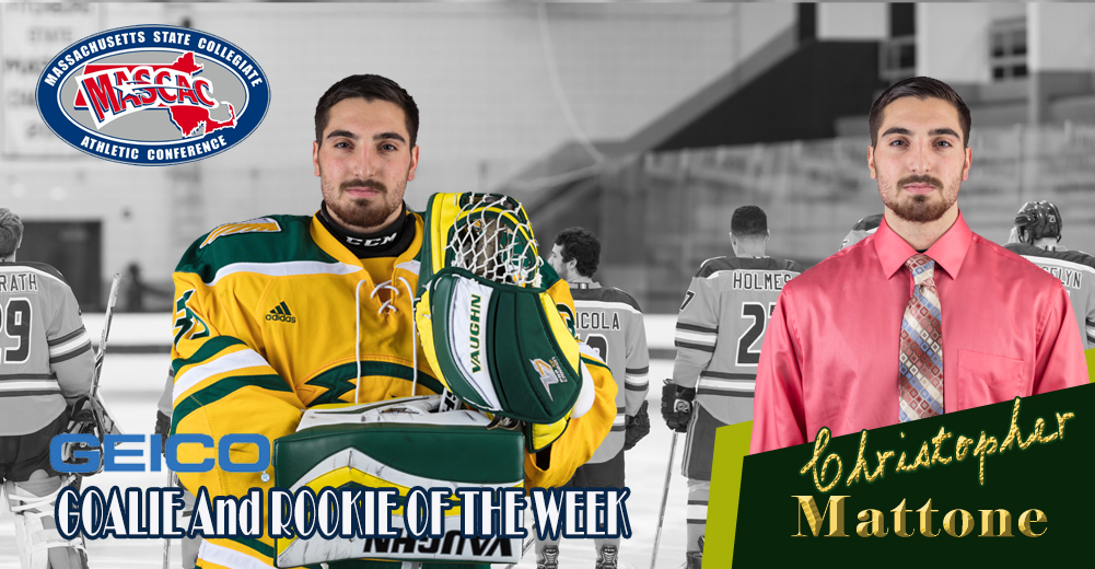 Mattone Selected MASCAC Ice Hockey Goaltender/Rookie Of The Week