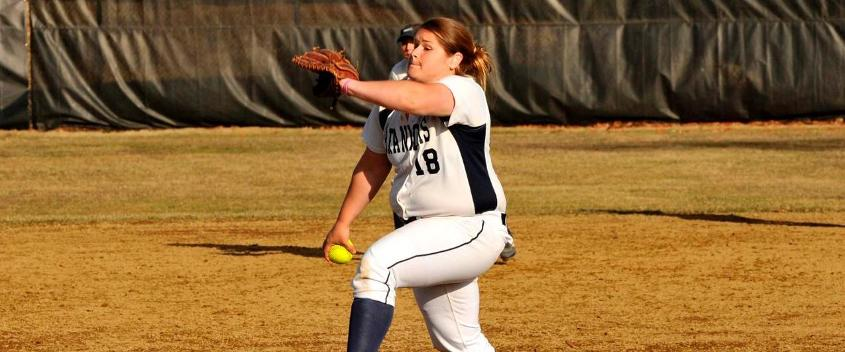 Cote pitches softball to DH split  with UMass Boston