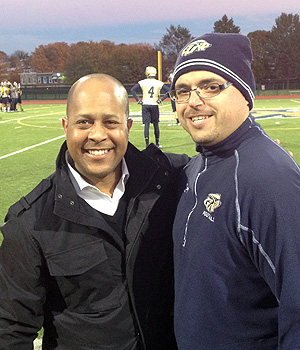Chuck Goldstein with CBS reporter Jeff Pegues