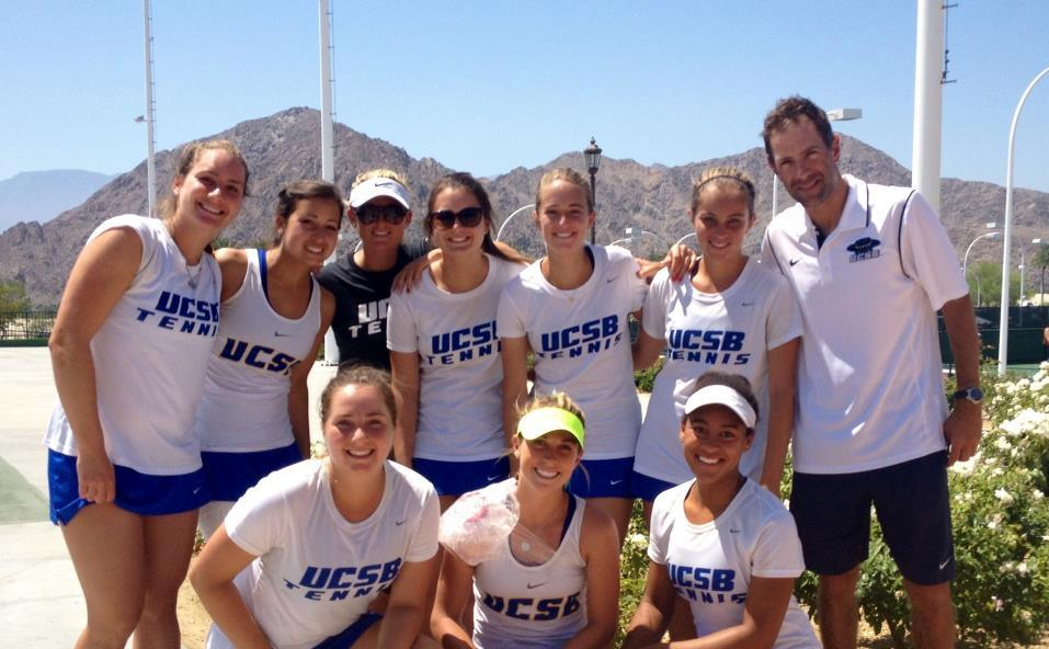 Women's Tennis after first round match in the Big West Championships
