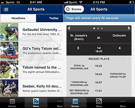 GU Athletics launches Front Row mobile app