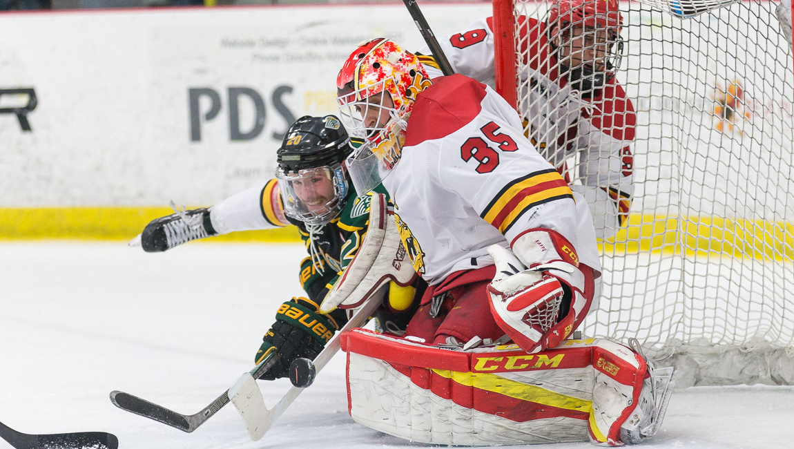 Ferris State Hockey's Justin Kapelmaster Tabbed WCHA Rookie Of Month For February