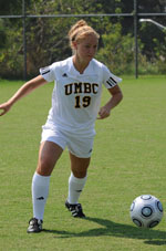 LeAnne Edgar took two UMBC's four shots against Longwood.