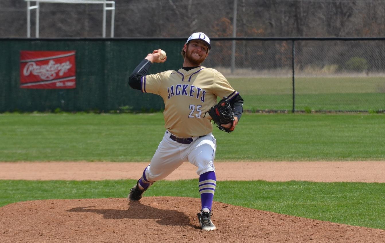 Konwinski Pitches Complete Game to Lead Baseball in Split with Hanover