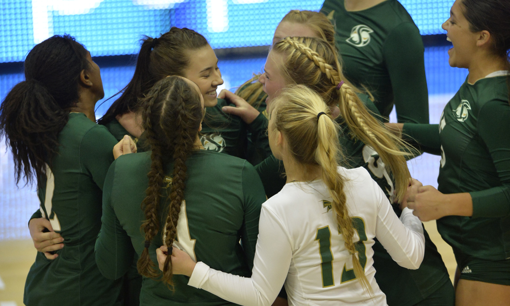 VOLLEYBALL STORMS BACK, KNOCKS OFF UC DAVIS ON THE ROAD, 3-2