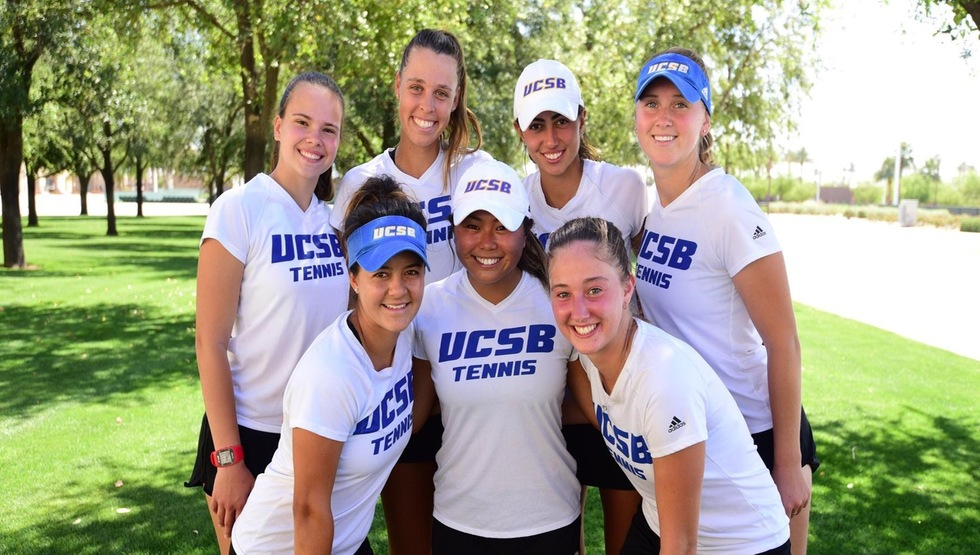 UCSB women's tennis (Photo by Josh Barbrer)