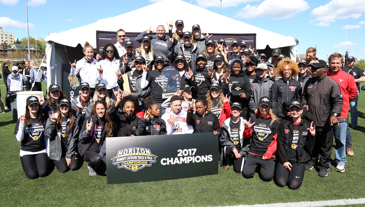 The YSU women won a Horizon League record fourth straight Outdoor title.