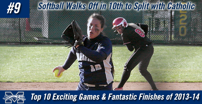 Top 10 Exciting Games of 2013-14 - #9 Softball Walks Off in 10th to Split with Catholic