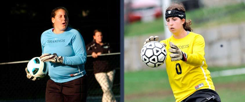 Goalies Francine Kofinas '13 and Michelle Savuto '15 (photos by Sportspix)