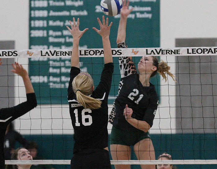 No. 18 Volleyball fends off Occidental