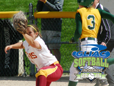 Chelsea Morris, the 2011 GLIAC Player of the Year, and her Ferris State teammates continued their GLIAC Tournament success by topping Wayne State.  (Photo by Sandy Gholston)
