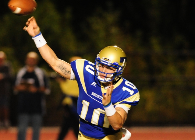 Football Downs Fitchburg State, 35-0
