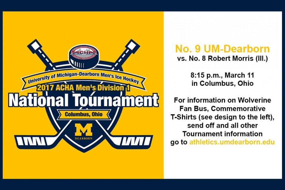 Photo for UM-Dearborn Men's Ice Hockey National Tournament Information