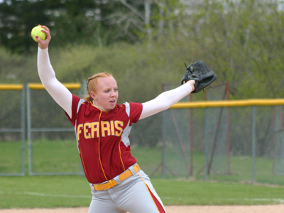 Sophomore pitcher Dana Bowler limited Slippery Rock to four hits while recording seven strikeouts in the win.