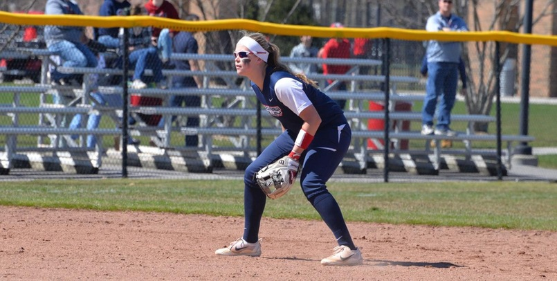 Aubree Mouthaan had two home runs in the Cardinals' Saturday sweep over Ferris State...