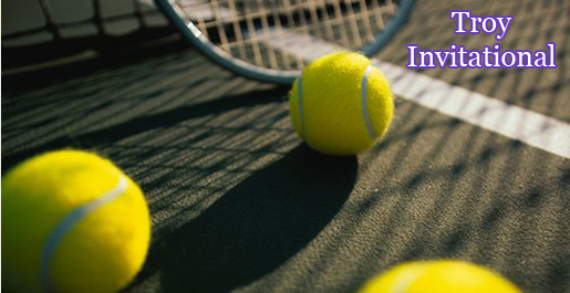 Men's and women's tennis compete at the Troy Invitational