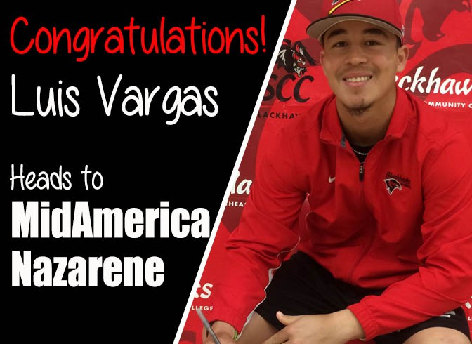 Photo for Luis Vargas Signs With Four Year University