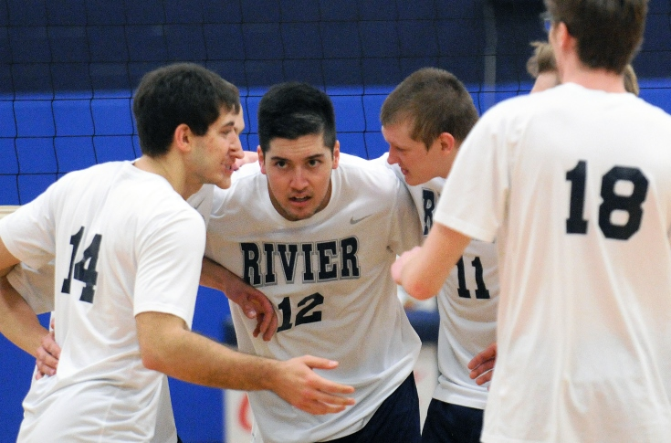 Men's Volleyball: Rivier sweeps their way to a pair of GNAC wins