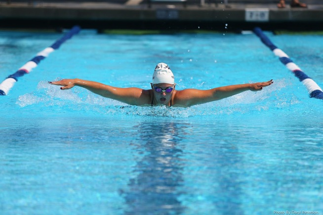 File Photo: Lindsey deHaas placed fifth at the conference championships in the 400-yard IM