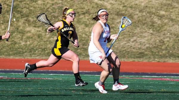 Sara Ellis picked up four ground balls for the Tigers in a 16-12 loss to Stevenson. File Photo | Erin Pence