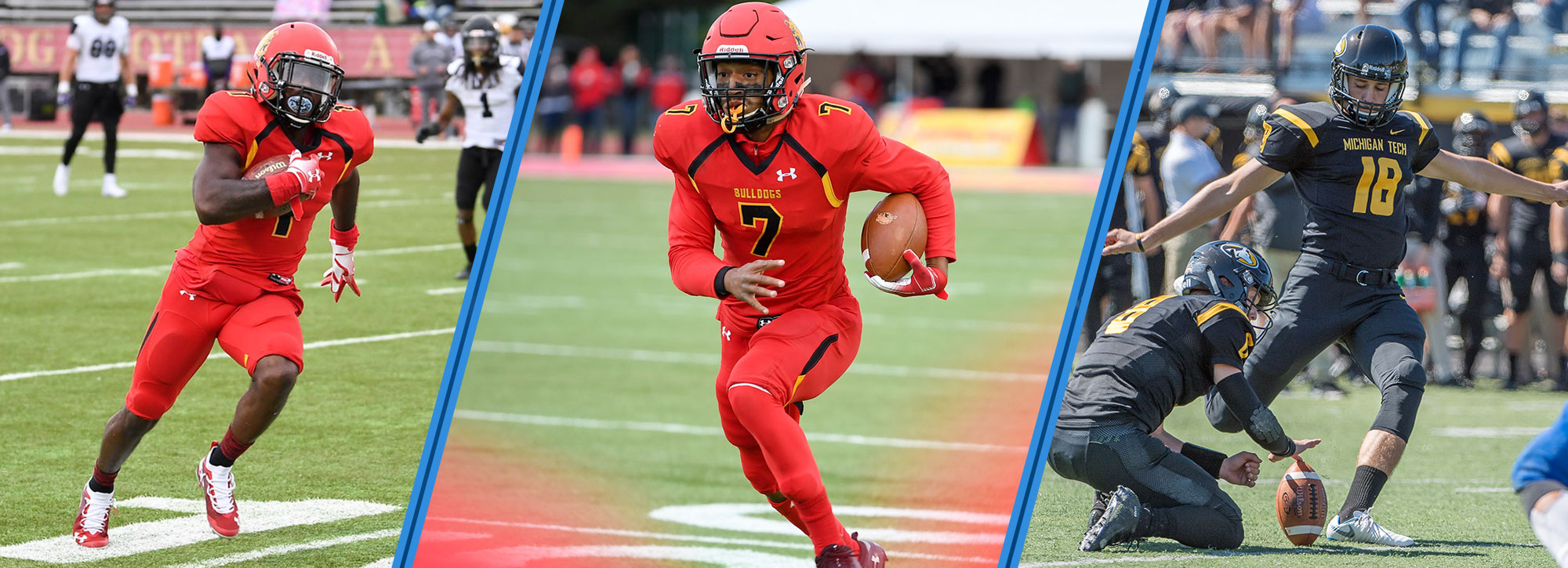 Ferris State's Campbell & Stephenson, Michigan Tech's Zeboor Claim GLIAC Football Player of the Week Accolades