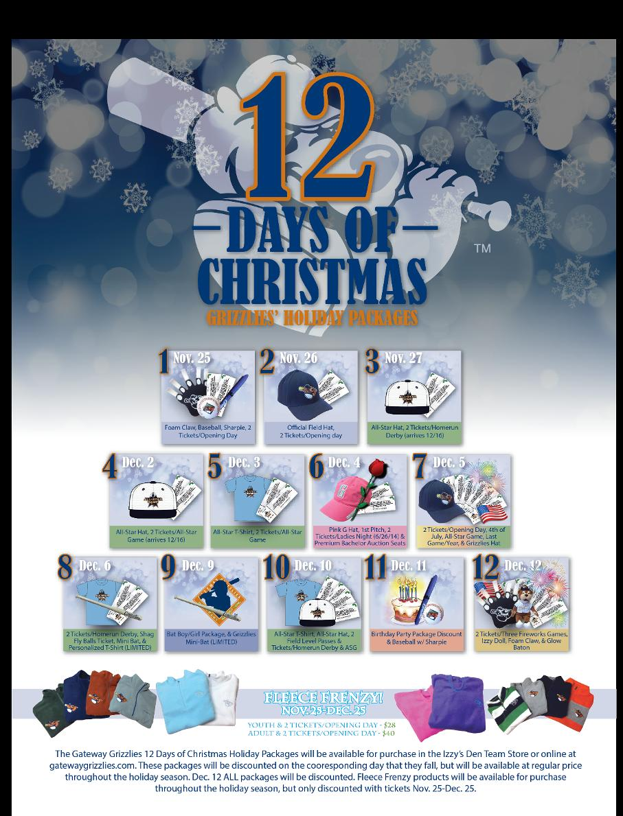 12 days of christmas package list
