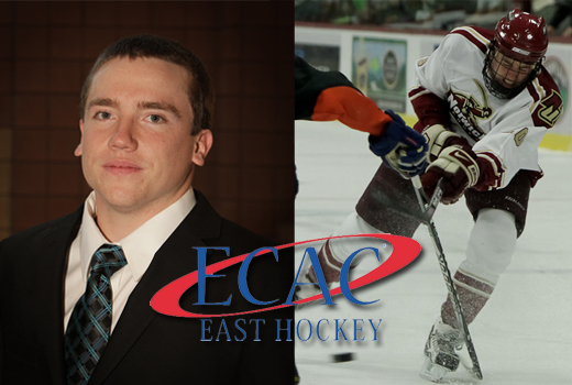 Men's Hockey: Lindensmith named ECAC East Rookie of the Week