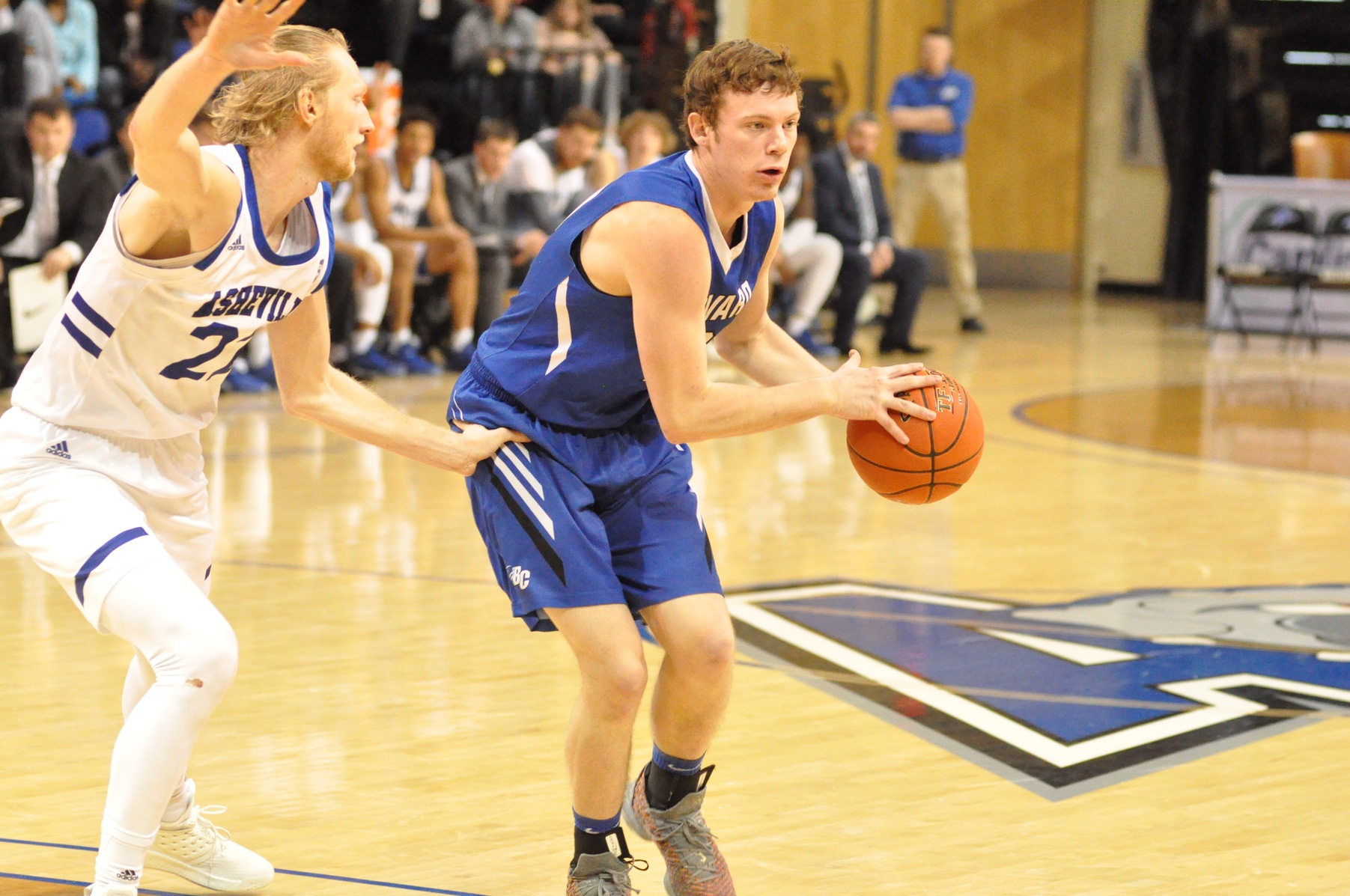 Cannon Lamb led the way for the Tornados with 14 points, six rebounds, and two assists in Brevard's exhibition vs. UNCA (Photo courtesy of Tommy Moss).