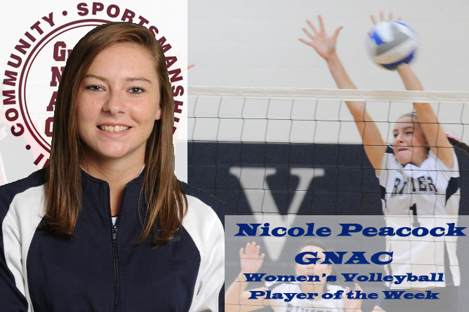 Peacock earns GNAC Offensive Player of the Week