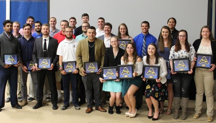 4-Year athletes recognized at the End of the Year Awards Ceremony.