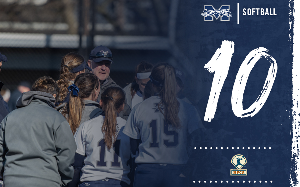 Moravian softball team ranked No. 10 in latest National Fastpitch Coaches Association Division III Top 25 Poll.