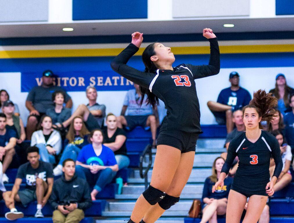Volleyball Has Competitive Set with Defending National Champ CMS