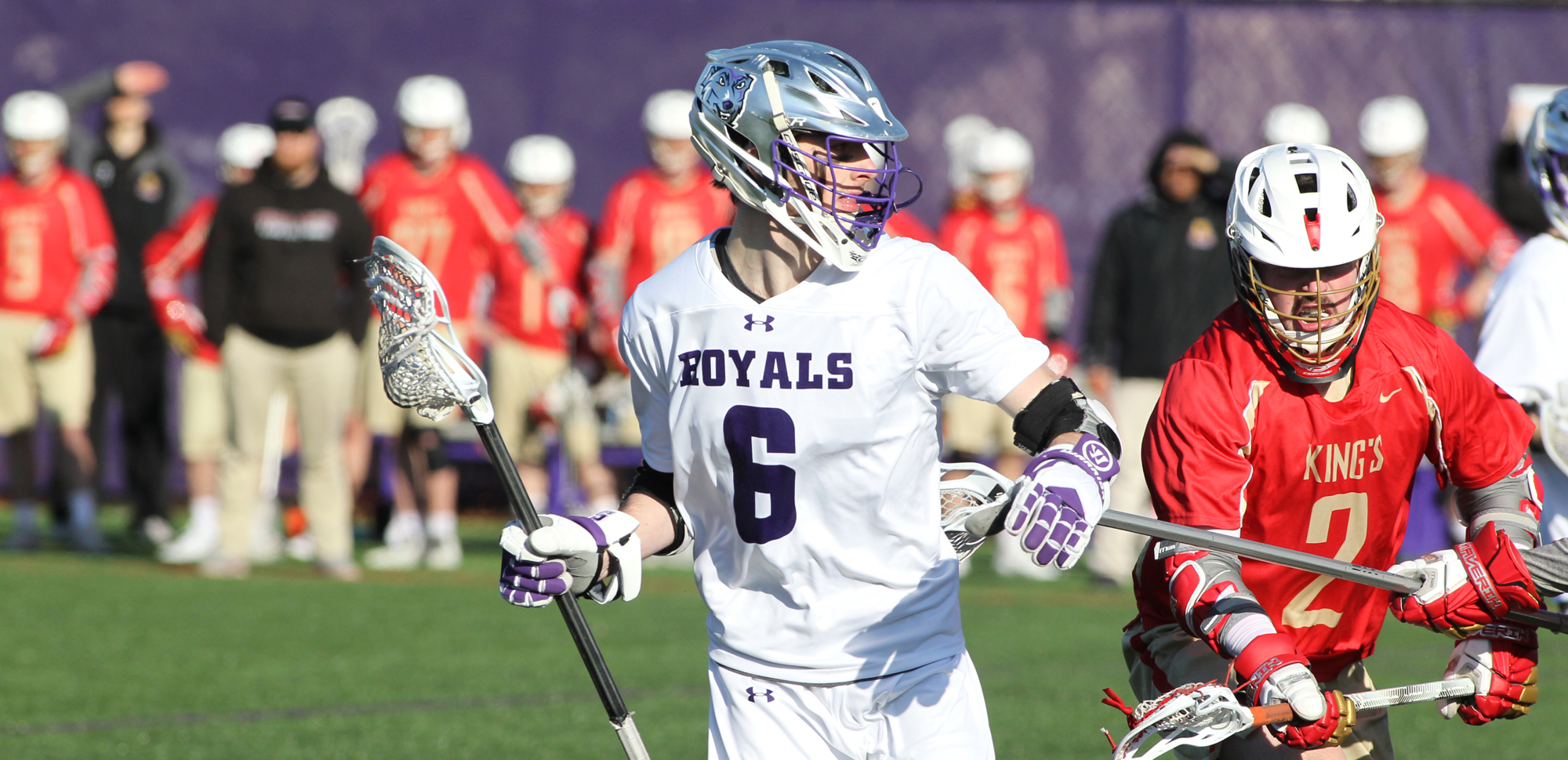 Junior Connor Kirkwood became just the 23rd player in Scranton history to reach the 100-point milestone on Saturday against Stockton. © Photo by Timothy R. Dougherty / doubleeaglephotography.com