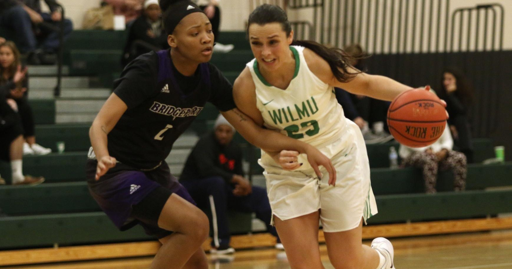 Copyright 2018; Wilmington University. All rights reserved. File photo of Macy Robinson who scored 14 points to go with eight rebounds, four assists, and four steals at Molloy. Photo by Frank Stallworth. November 16, 2018 vs. Bridgeport.