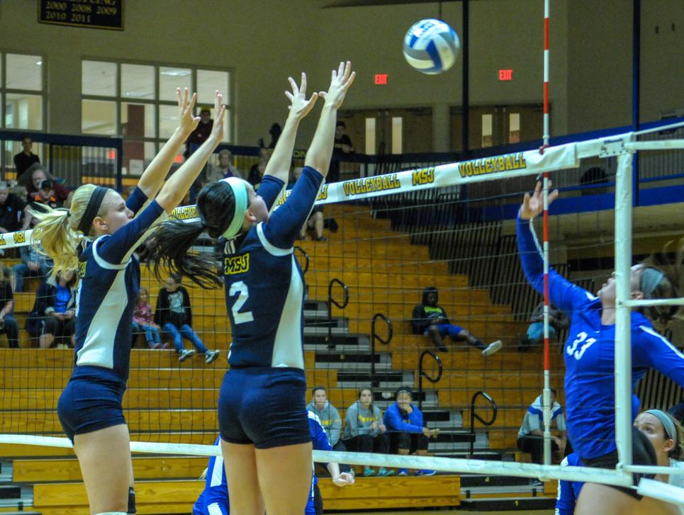 Mount St. Joseph women's volleyball team splits matches in opener