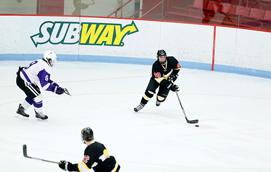 Hockey Skates Past Becker