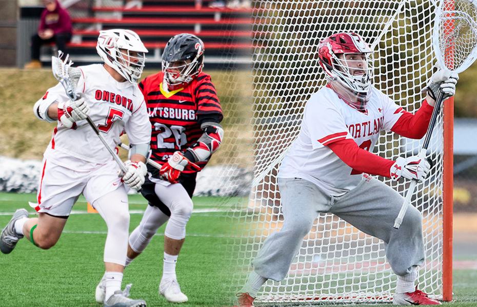 Oneonta and Cortland take home men's lacrosse weekly awards