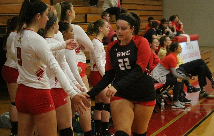 Top-Seeded Women's Volleyball Hosts No. 8 Mitchell in NECC Quarterfinals Tuesday