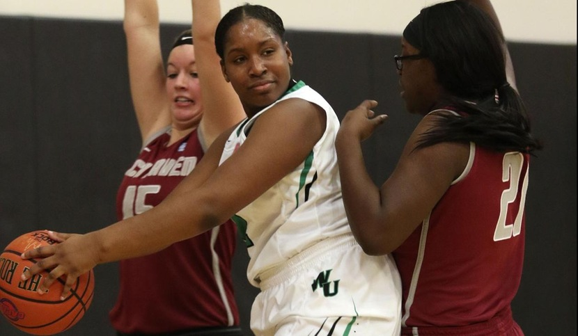 Copyright 2017; Wilmington University. All rights reserved. File photo of Nyree Grant, taken by Frank Stallworth. December 17, 2017 vs. Lock Haven.